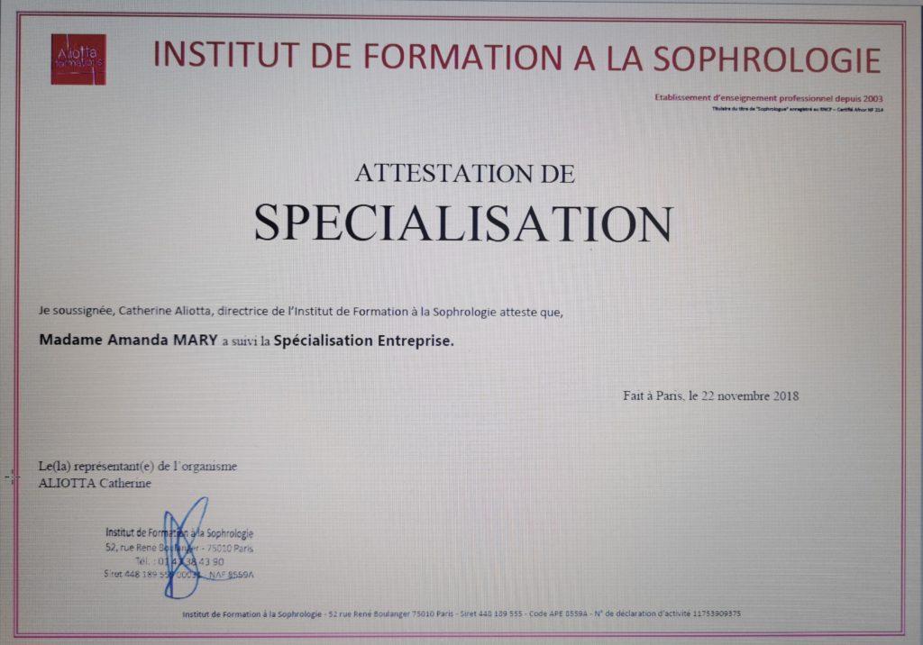 sophrologie entreprise Marseille